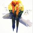 Watercolour love birds, using wet into wet and layering techniques. Un progetto di Pittura ad acquerello di Sarah Stokes - 02.03.2021