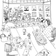 Adobe coloring page. A Illustration project by Sarah van Dongen - 05.30.2020
