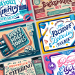 Procreate Products. A Bildung, Brush Painting und 3-D-Lettering project by Jimbo Bernaus - 09.03.2021