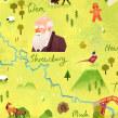 Shropshire County Map. Un progetto di Illustrazione, Illustrazione digitale e Illustrazione infantile di Gemma Gould - 09.03.2021
