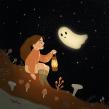 Spooky Ghost. A Digital illustration, and Children's Illustration project by Juanita Londoño Gaviria - 10.10.2020