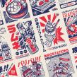 Oishi Market. Un projet de Illustration, Direction artistique, Br, ing et identité , et Conception de produits de Pierre-Marie Postel - 04.03.2021