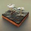 Humber Bridge Diorama. Un projet de Animation 3D, Modélisation 3D , et Conception 3D de Michael Tierney - 04.04.2021