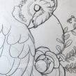 Owl tattoo design. Un proyecto de Sketchbook y Diseño de tatuajes de Jenny Rae - 12.04.2021