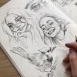 Sketchbook portrait studies. Un proyecto de Bocetado, Dibujo de Retrato y Sketchbook de Gabriela Niko - 19.04.2021