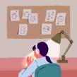 """Vogue Spain: Viñeta animada """"Soledad"""". Un proyecto de Ilustración, Animación, Animación 2D e Ilustración digital de Rocío Diestra Villavicencio - 10.04.2021"""