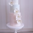 Textured Cake with hand made sugar orchids. A H und werk project by Nasima Alam - 04.05.2021
