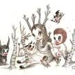 Mythical Homeland (drawings). Un proyecto de Ilustración, Diseño de personajes, Bellas Artes, Dibujo a lápiz, Dibujo, Stor, telling y Narrativa de Gary Baseman - 04.05.2021