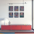 mock up para láminas decorativas. Un proyecto de Diseño, 3D, Arquitectura, Dirección de arte, Diseño de muebles, Diseño gráfico, Arquitectura interior, Diseño de interiores e Infografía de Ana de Santos Díaz - 26.05.2021