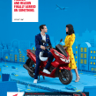 Honda PCX125 Ad Campaign . Um projeto de Publicidade, Fotografia, Direção de arte, Design de cenários e Fotografia do produto de Aleksandra Kingo - 01.06.2021