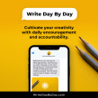 WRITE DAY BY DAY accountability, confidence and inspiration course. A Music, Audio, Writing, Stor, and telling project by Courtney Maum - 12.17.2020