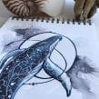 Whale design. Un projet de Illustration , et Design  de Jenny Rae - 23.06.2021