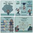 Mental Health Comic Illustrations. Un progetto di Illustrazione di Grace Frösén - 02.07.2021