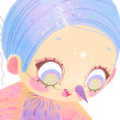 Menina Passarinha. A Illustration project by Brenda Bossato - 07.14.2021