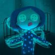 Fanart Coraline. A Illustration project by Brenda Bossato - 07.14.2021