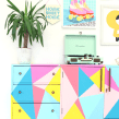 Geometric Sideboard . A Furniture Design, DIY, Upc, and cling project by Joanne Condon - 08.09.2021
