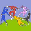 La Dance des Rangers. Um projeto de Ilustração, Direção de arte, Design de personagens e Design de cartaz de Manuel Bueno Botello - 04.08.2021
