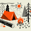 Vintage Camp Scene. Un projet de Illustration de Brad Woodard - 19.08.2021