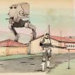 Mi Proyecto del curso: Ilustración con Procreate: dibuja escenas imposibles. Un progetto di Illustrazione, Illustrazione digitale , e Disegno digitale di Óscar Lloréns - 10.09.2021