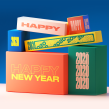 Happy New Year // Typo motion. A Illustration, Motion Graphics, 3-D, T und pografie project by Christophe Zidler - 16.09.2021