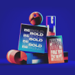 Be Bold // Typo Animation. A Illustration, Motion Graphics, 3-D, T und pografie project by Christophe Zidler - 16.09.2021