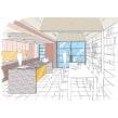 My project in Architectural Drawing: The Single-Point Perspective course. Un proyecto de Diseño, Arquitectura, Paisajismo e Ilustración arquitectónica de Bradley Van Der Straeten - 20.09.2021