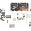 Colaboración con @LUCIOLÉ - Proyecto para habitación de invitados_Textiles & Papel Pintado_Lisos, estampados y jacquards. Un proyecto de Diseño de Chío León - 01.08.2020