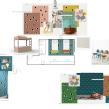 Propuesta para clienta en colaboración con @PEEKANDPACK. Un proyecto de Diseño, Dirección de arte, Estampación, Ilustración textil y Amigurumi de Chío León - 01.02.2020