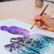 My project in Double Exposure Watercolor: Painting Nature course. Un proyecto de Ilustración, Pintura a la acuarela, Dibujo realista e Ilustración naturalista de Jessica Janik - 03.10.2021