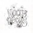 Hocus Pocus. Un progetto di Illustrazione, Lettering, Lettering digitale, H , e lettering di Chiara Bacchini - 06.10.2021