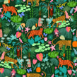Mon projet du cours : Illustration numérique de motifs inspirés de la faune et la flore. A Illustration, Musterdesign, Zeichnung, Digitale Illustration und Botanische Illustration project by Laura Lhuillier - 01.06.2021