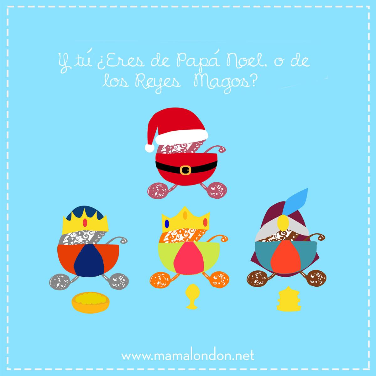 Fotos Papa Noel Reyes Magos.Y Tu Eres De Papa Noel O De Los Reyes Magos Domestika