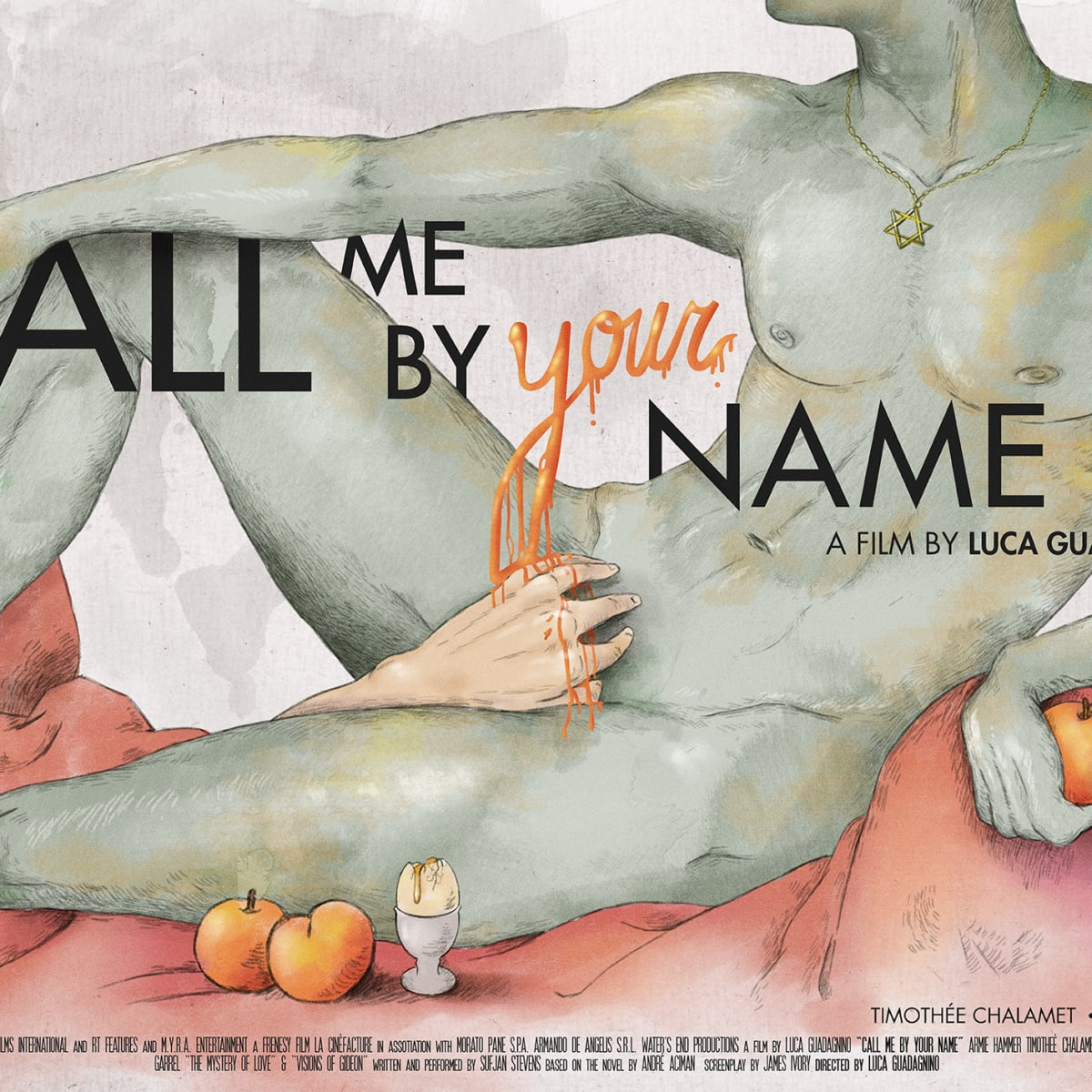 Call me by your name (horizontal) | Domestika