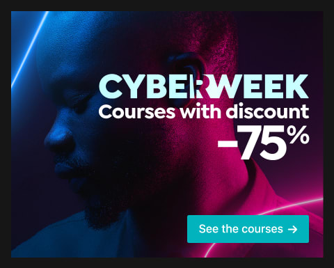 Cyber Week: Courses 75% off.