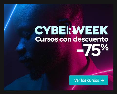 Cyber Week: Cursos al 75% dto.