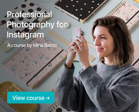Professional Photography for Instagram. A course by Mina Barrio