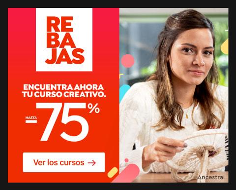 Rebajas: Cursos hasta 75% dto.