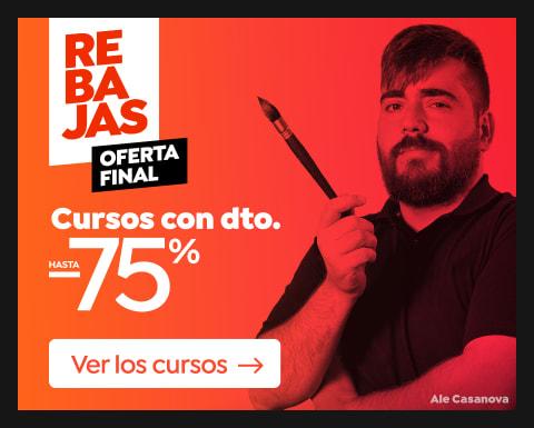 Oferta final: Cursos hasta 75% dto.