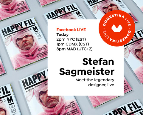 Meet legendary designer Stefan Sagmeister on our Live today at 2pm NYC