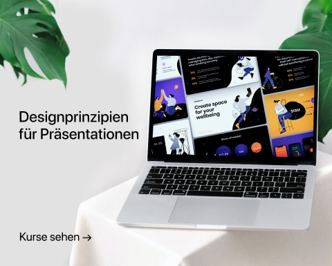 Designprinzipien für Präsentationen. Ein Kurs von Katya Kovalenko.