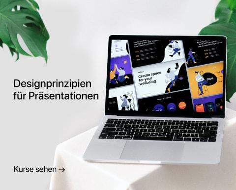 Designprinzipien für Präsentationen. Ein Kurs von Katya Kovalenko.