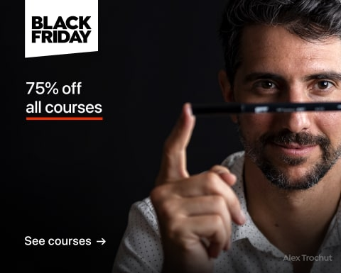 Black Friday: Courses 75% off.