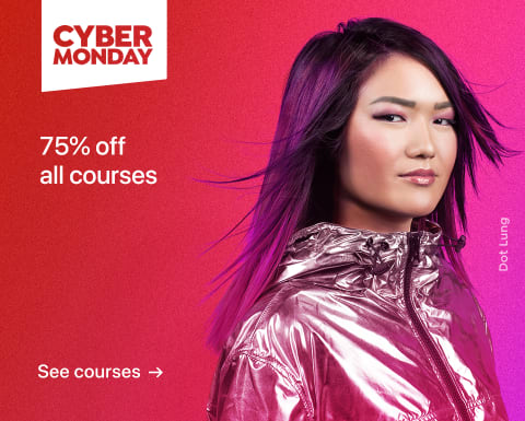 Cyber Monday: Courses 75% off.