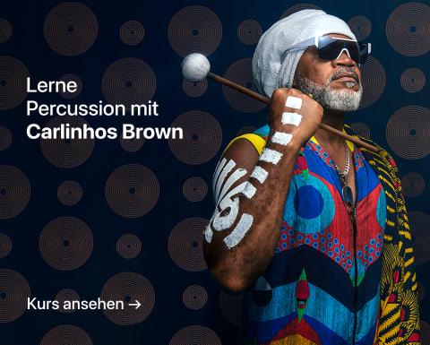 Einführung in die Percussion: Entdecke die Magie der Rhythmen. Ein Kurs von Carlinhos Brown.