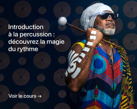 Introduction à la percussion : découvrez la magie du rythme. Un cours de Carlinhos Brown.