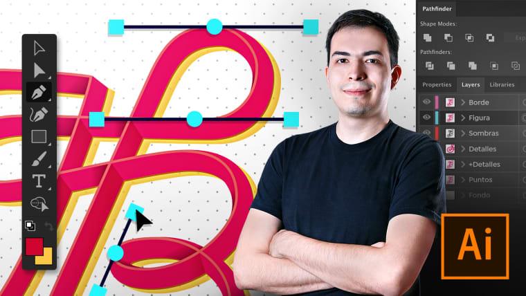 Adobe Illustrator para tipografía, lettering y caligrafía