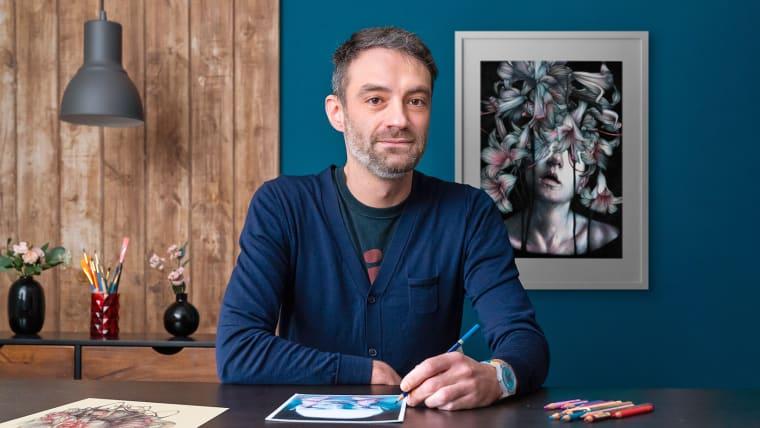 Chiaroscuro Creative Portrait with Pencils