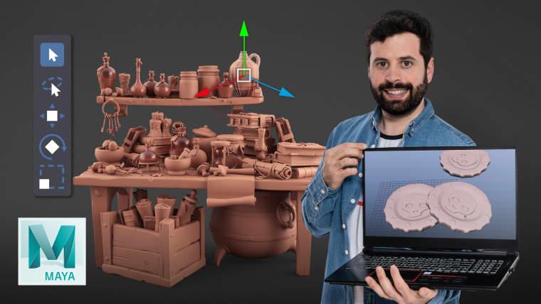 Modelado cartoon de bodegones con Maya