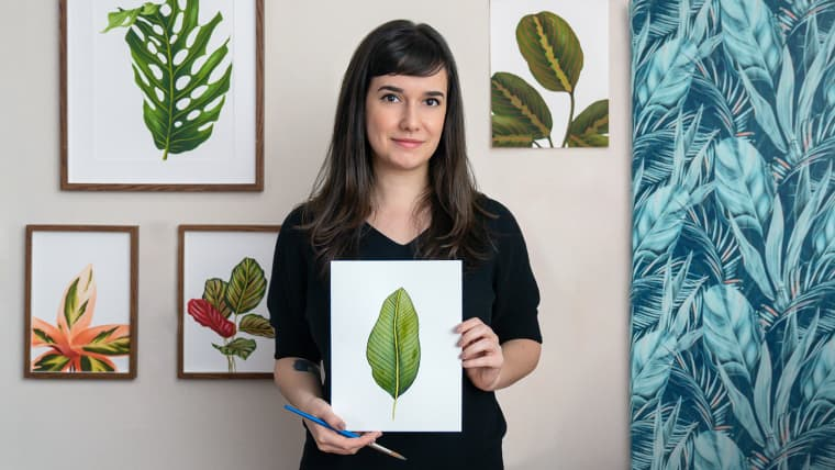 Botanical Watercolor for Patterns