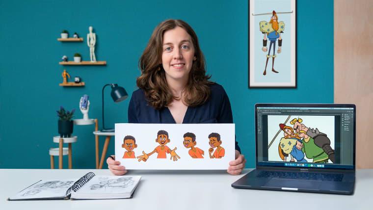 Creación de personajes para animación: formas, color y expresión